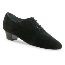Chaussure de danse pour femme Anna Kern 559-30 est une chaussure fermé idéal pour les entraînements, en daim noir, laçage 5 trous pour un bon maintien, très confortable et souple, talon 3 cm. Idéal pour danse de salon, Danceworld à Bruxelles