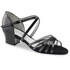 Chaussure de danse pour femme Anna Kern 581-35 est en cuir souple, très confortable, brides croisées sur le pied, ouverture sur les orteils, talon 3.5 cm. Idéal pour danse de salon et le west coast. Danceworld à Bruxelles