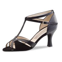 chaussure de danse pour femme werner kern astrid 65, ouverte devant,très confortable,deux brides ajustables séparément et reliées en t.