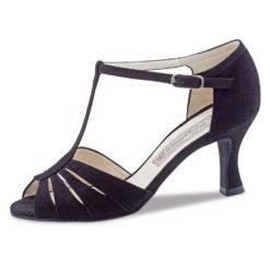 chaussure de danse werner kern dalia 65, chaussure de danse de salon, tige en t maintenu par la lanière qui se ferme sur le coup de pied, talon 6.5 cm, dance world