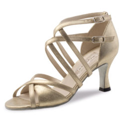 chaussure de danse pour femme werner kern eva 65, chaussure de danse de salon, doubles lanières croisées,confortable, talon 6.5 cm,perle nude