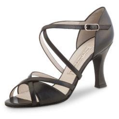 chaussure de danse werner kern july 80, chaussure de danse de salon, en cuir souple, lanières croisées