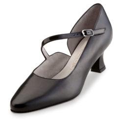 chaussure de danse pour femme werner kern rita 55, chaussure de danse de salon, en cuir souple, très confortable, talon 5.5 cm, bride sur coup de pied, classique, idéal pour danse de salon, danceworld à bruxelles