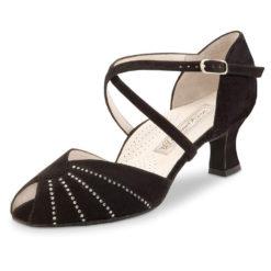 chaussure de danse pour femme werner kern sonia 50, chaussure de danse de salon, très confortable avec sa semelle confort (ergonomique), élégante avec strass, lanières croisés sur le pied, très souple, idéal pour danse de salon, danceworld bruxelles