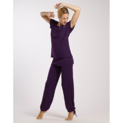 Pantalon de danse TEMPS DANSE BABY, viscose bambou, pantalon de yoga, pantalon droit à rabat, fibres naturelles, danceworld, bruxelles.