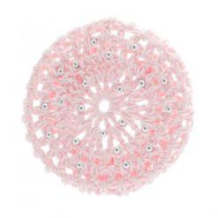 Filets à chignon enfants avec perles KATZ Hair Bun nets pearls. Rose