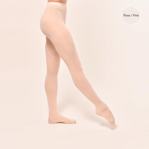 Collants classiques rosesDANSEZ-VOUS P100 avec pieds