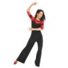Pantalon de tango femme BERLINO RU3826 de la marque RUMPF, large et fluïde, à rabat.
