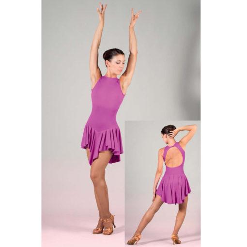 Robe de danses latines SHEDDO LA605W, robe de salsa, danceworld, bruxelles.