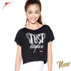 T-shirt court de danse So Dança RDE 1779 pour enfants, danceworld, bruxelles.